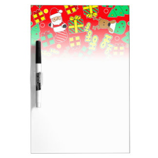 Red - Ho Ho Santa Dry Erase Board