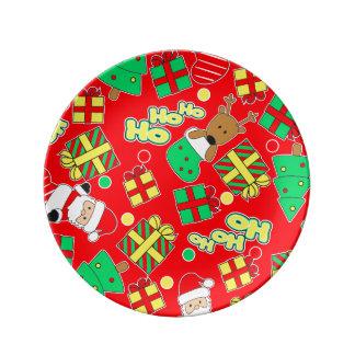 Red - Ho Ho Santa Plate