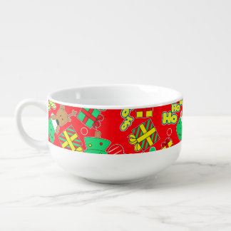 Red - Ho Ho Santa Soup Mug