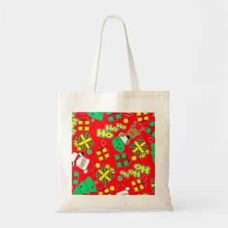 Red - Ho Ho Santa Tote Bag