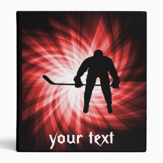 Red Hockey Binder