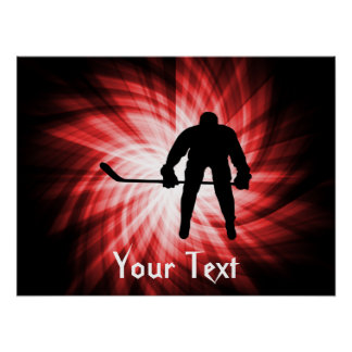 Red Hockey Poster