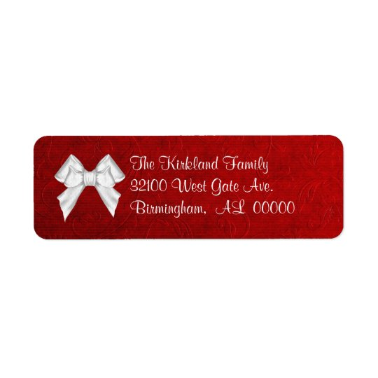 Red Holiday Address Labels