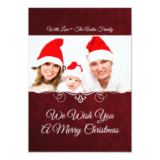 Red Holiday Photo Card