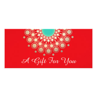 Red Holiday Salon and Spa Gift Certificate Rack Card Design