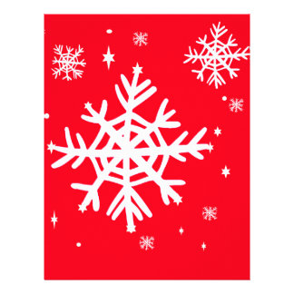 Red Holiday Snowflakes Art by Sharles Customized Letterhead
