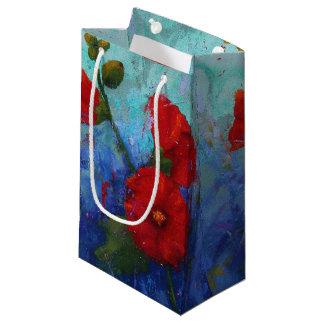 Red Hollyhocks Gift Bag