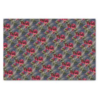 Red Hollyhocks in a summer garden Tissue Paper
