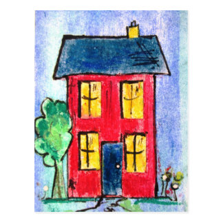 red home by pixi -art.com postcard