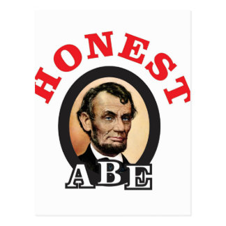 red honest abe art postcard