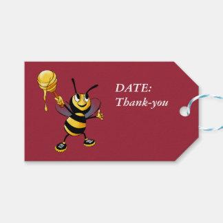 Red Honey Bee Rosh HaShana Pack Of Gift Tags