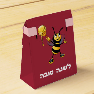 Red Honey Bee Rosh HaShana Wedding Favor Box