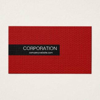 Red honeycomb sleek standard size business cards