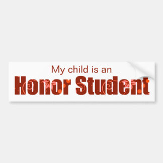 Red Honor Student Bumper Sticker