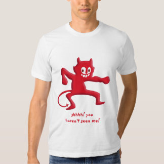 Red Horned Devil Imp with Pointed Tail T Shirt