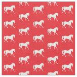 Red Horse Fabric, Girl's Fabric, Animal Fabric
