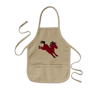 red horse kids apron