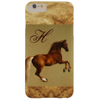 RED HORSE Parchment Monogram Barely There iPhone 6 Plus Case