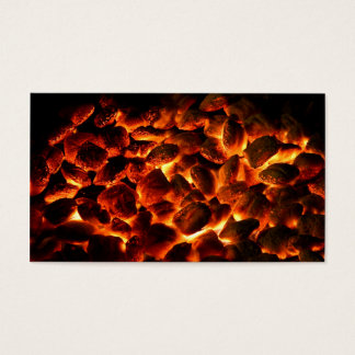 Red Hot Burning Coals Business Card