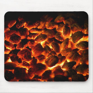 Red Hot Burning Coals Mouse Pad
