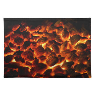 Red Hot Burning Coals Placemat
