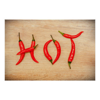 Red Hot Chili Peppers Letters Word Poster