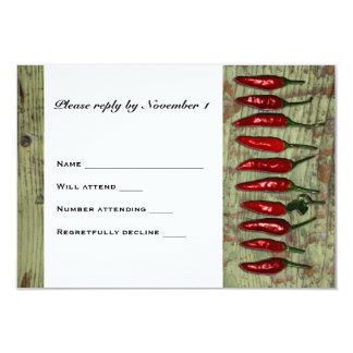 Red Hot Chili Peppers Wood Look RSVP Card