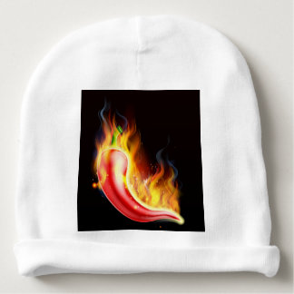 Red Hot Chilli Pepper on Fire Baby Beanie