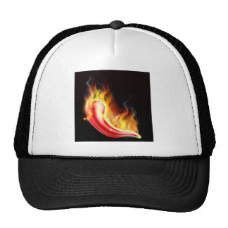Red Hot Chilli Pepper on Fire Trucker Hat