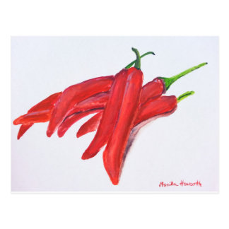 Red hot chilli peppers postcard