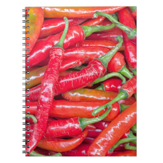 Red hot chilli peppers spiral notebook