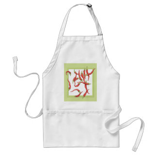 Red Hot Chillies green Apron