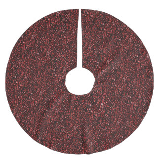 Red Hot Coffee Beans Brushed Polyester Tree Skirt