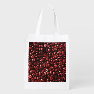 Red Hot Coffee Beans Reusable Grocery Bag