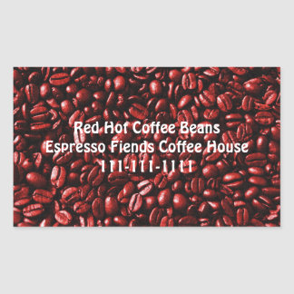 Red Hot Coffee Beans Sticker