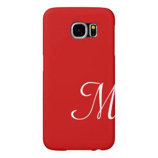 Red Hot Custom Initial Monogram Samsung Galaxy S6 Cases