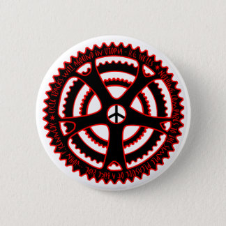 Red Hot Cycle Tracks in Utopia 2 Inch Round Button