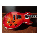 Red Hot Electric Guitar Poster