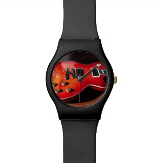 Red Hot Electric Guitar Watch