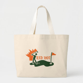 RED HOT Golfer Jumbo Tote Bag