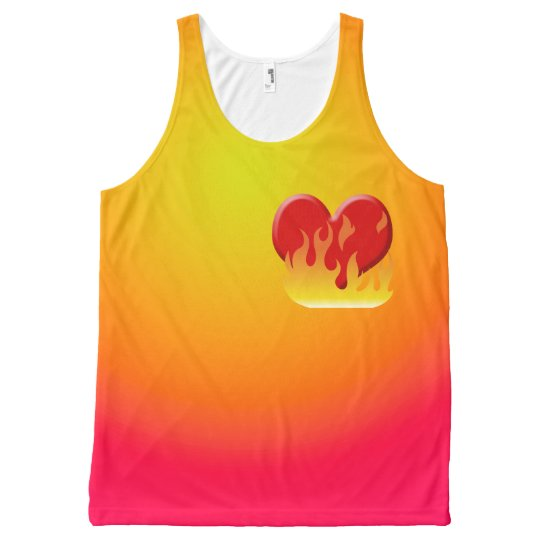 RED HOT LOVE All-Over-Print TANK TOP