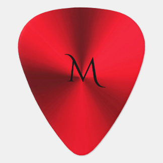 Red Hot Metallic Monogram Guitar Pick
