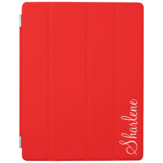 Red hot monogram iPad iPad Cover