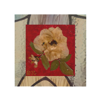 Red Hot Passion & Delicate Rose wood wall art Wood Canvas