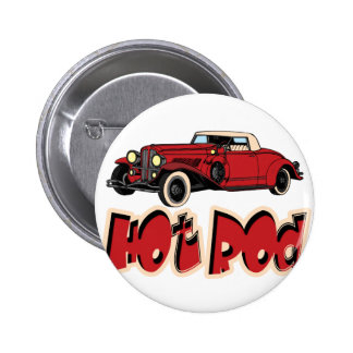 Red Hot Rod Pinback Button