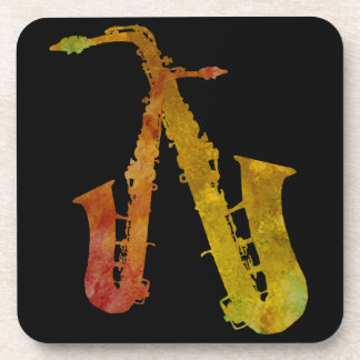 Red Hot Saxes Coaster