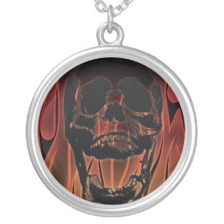 Red Hot Skull Necklace