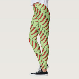 Red Hot Spicy Chili Chile Pepper Peppers Leggings