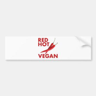 RED HOT VEGAN BUMPER STICKER