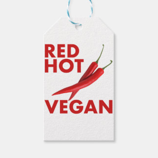 RED HOT VEGAN GIFT TAGS